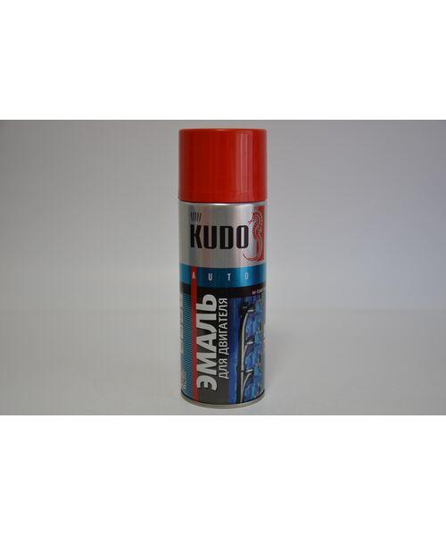 """KUDO 5134 эмаль для двигателя  """"красная"""" 400ml."""
